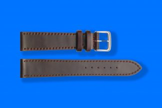 nomos 5881 watcg strap shell cordovan brown with red stitching