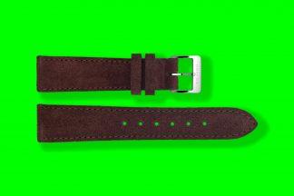 nomos watch strap velour 17mm brown 5874