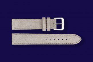 nomos watch strap velour 17mm grey 5885