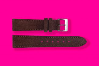 nomos watch strap velour 18mm brown 5880