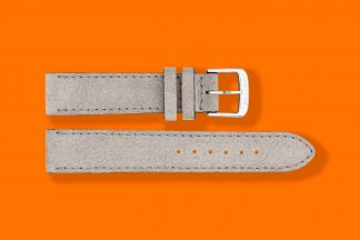 nomos watch strap velour 18mm grey 5886