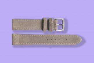 nomos watch strap velour 19mm beige 5878