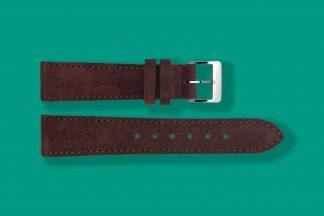 nomos watch strap velour 19mm brown 5882
