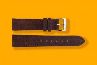 nomos watch strap velour 20mm brown 5883