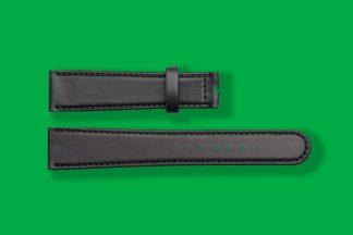 17mm 5831 nomos watch strap black shell cordovan remborde leather