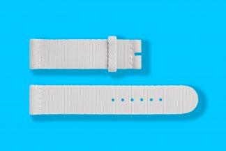 18mm textile woven light grey nomos watch strap 5841
