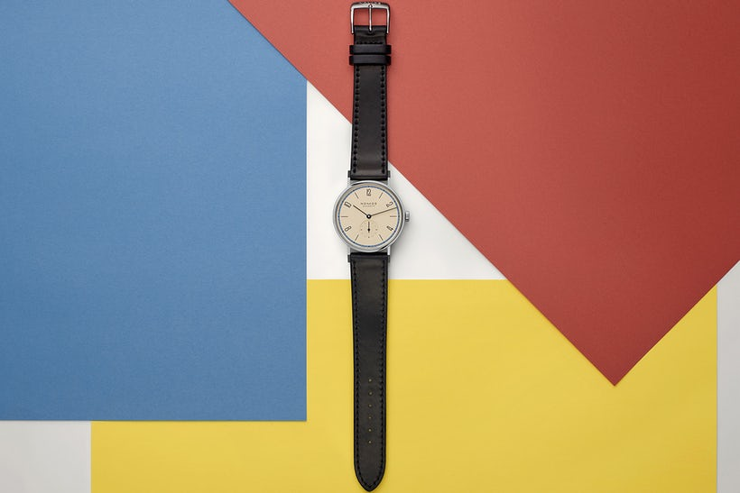 Nomos Glashuette Tangente 100 Years Bauhaus Limited Edition watch
