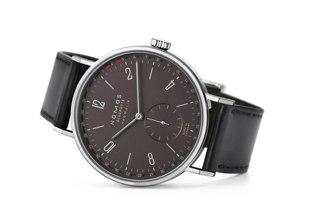 The NOMOS Tangente neomatik update with new ruthenium dial