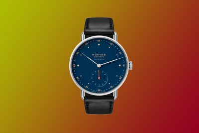nomos neomatik metro midnight blue watch